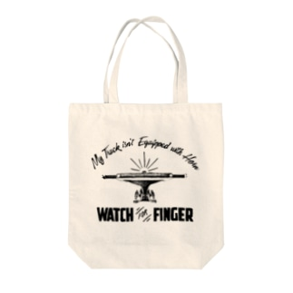 Watch For Finger Tote bags