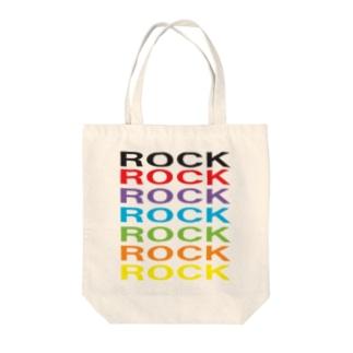 カラフルROCK Tote bags