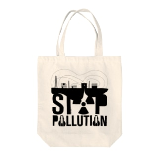 STOP POLLUTION Tote bags