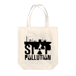 メガネのSTOP POLLUTION Tote bags