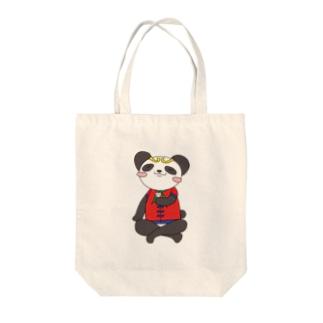 ぷっくん Tote bags