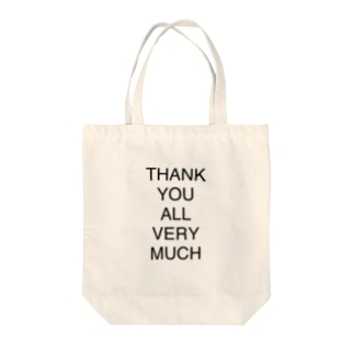 THANK YOU ALL VERY MUCH Tote bags