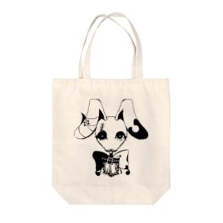 ゴスパンうさちゃん Tote bags