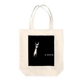 TWO OUTS Tote bags