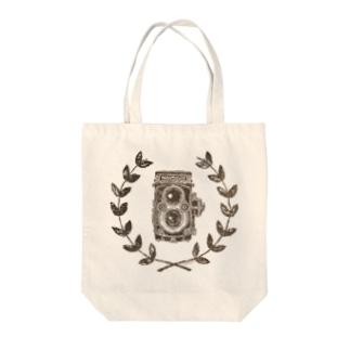 レトロカメラ(二眼レフ) トートバッグ