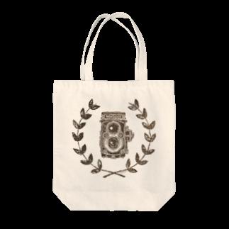 *citrineのレトロカメラ(二眼レフ/淡色生地用) Tote bags