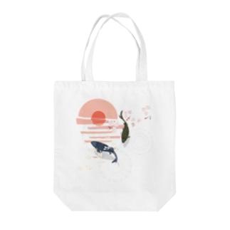 へーはちのみせの和・鯉 Tote bags