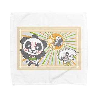 パンダ+歌舞伎 Towel handkerchiefs