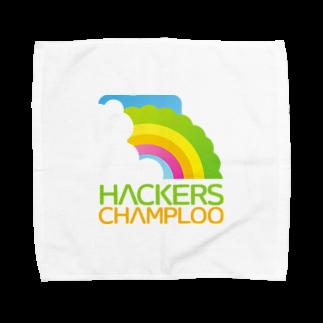ハッカーズチャンプルーのハッカーズチャンプルーロゴ(正方形) タオルハンカチ