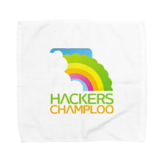 ハッカーズチャンプルーのハッカーズチャンプルーロゴ(正方形) Towel handkerchiefs