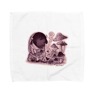 きのこの森の出会い Towel handkerchiefs