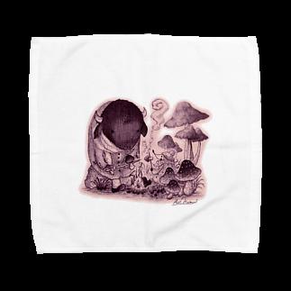 葉守 碧のきのこの森の出会い Towel handkerchiefs
