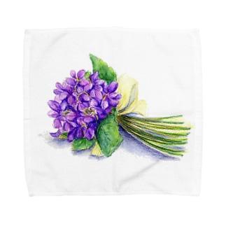 スミレの花束 タオルハンカチ