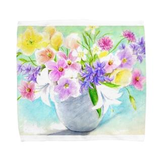 盛り花2 タオルハンカチ