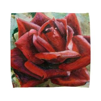 薔薇 タオルハンカチ