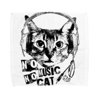 Nobigao Music Cat Towel handkerchiefs