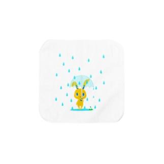 雨の日うさぎ タオルハンカチ