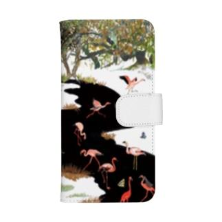 White Canvas ウォレットフォンケース