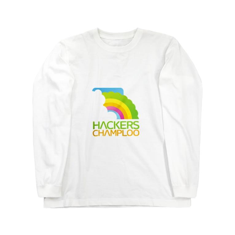 ハッカーズチャンプルーのハッカーズチャンプルーロゴ(正方形) Long sleeve T-shirts