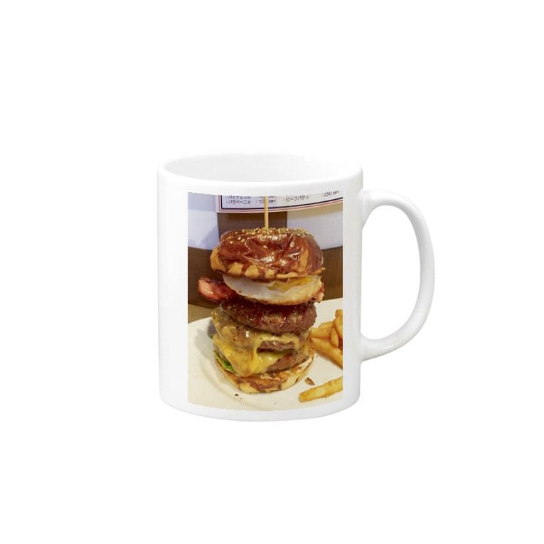 すぎうらまさみのハンバーガー3段 Mugs