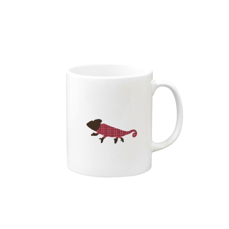 akijiparade_chameleon マグカップ