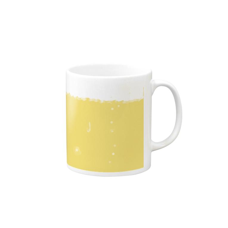 架空会社ぱあぷうのビールマグ Mug