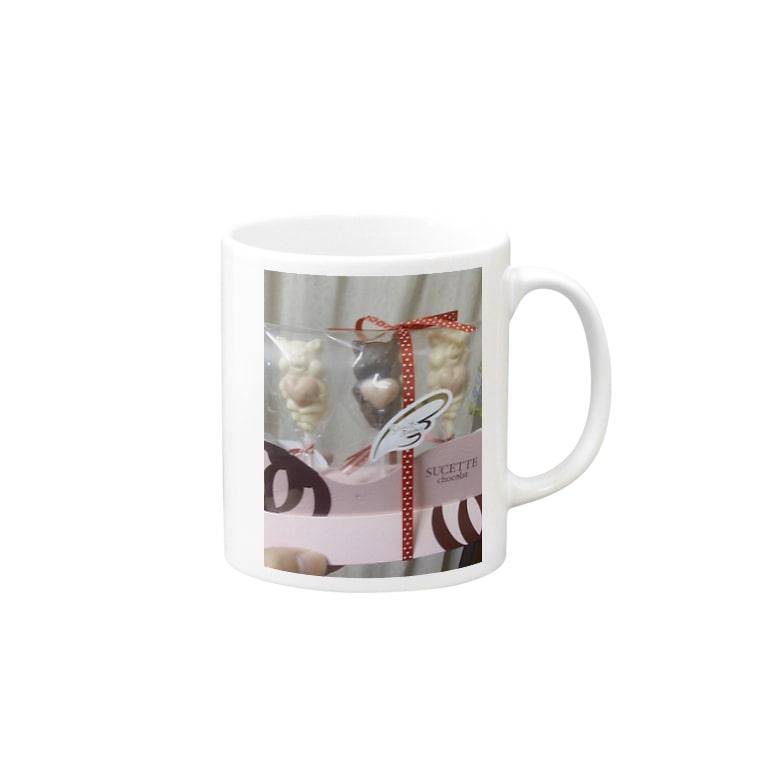 ramzouの天使のブタチョコ Mugs