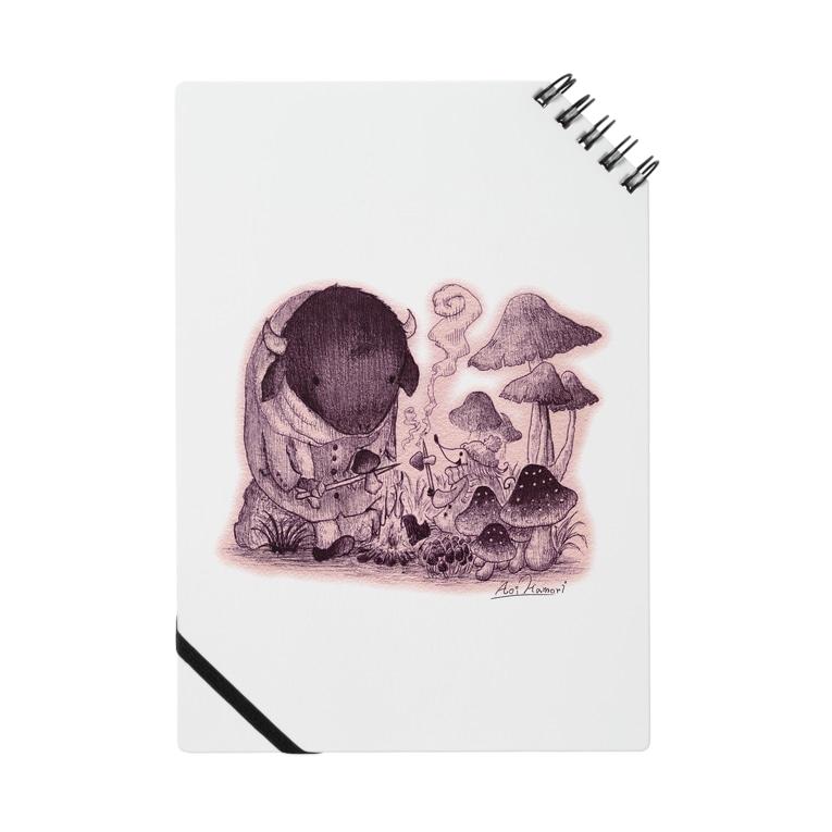 ハモリ アオイのきのこの森の出会い Notebook
