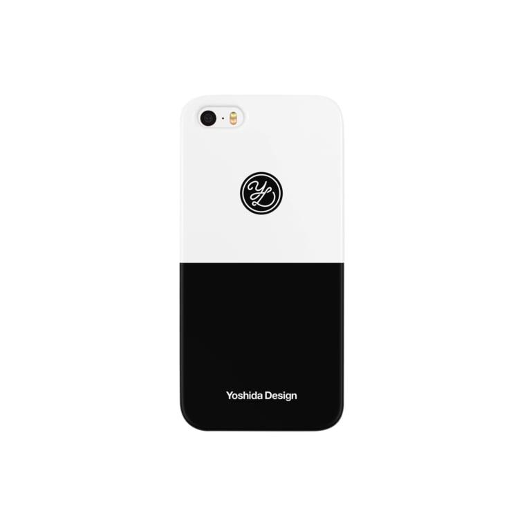 yoshideのYoshida design logo B/W Smartphone cases