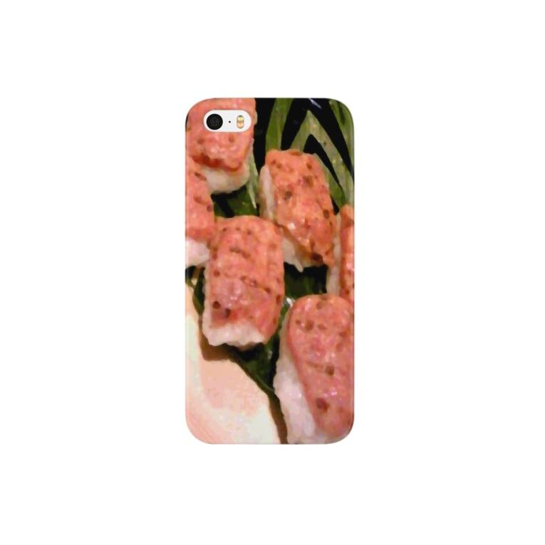 アシベズヘアの肉寿司 Smartphone cases