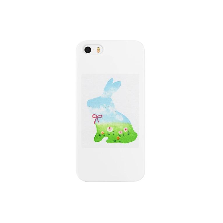 木木屋の空模様のうさぎ Smartphone cases