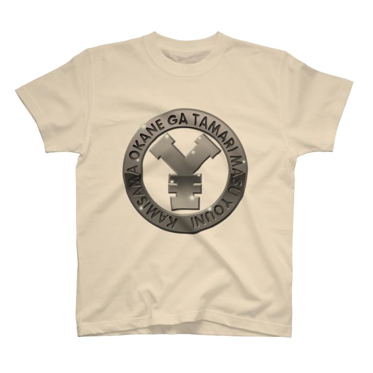 毒の素の円マークエンブレム T-shirts