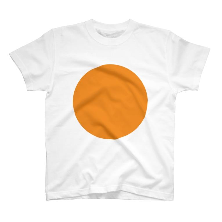 Blackのorange T-Shirt