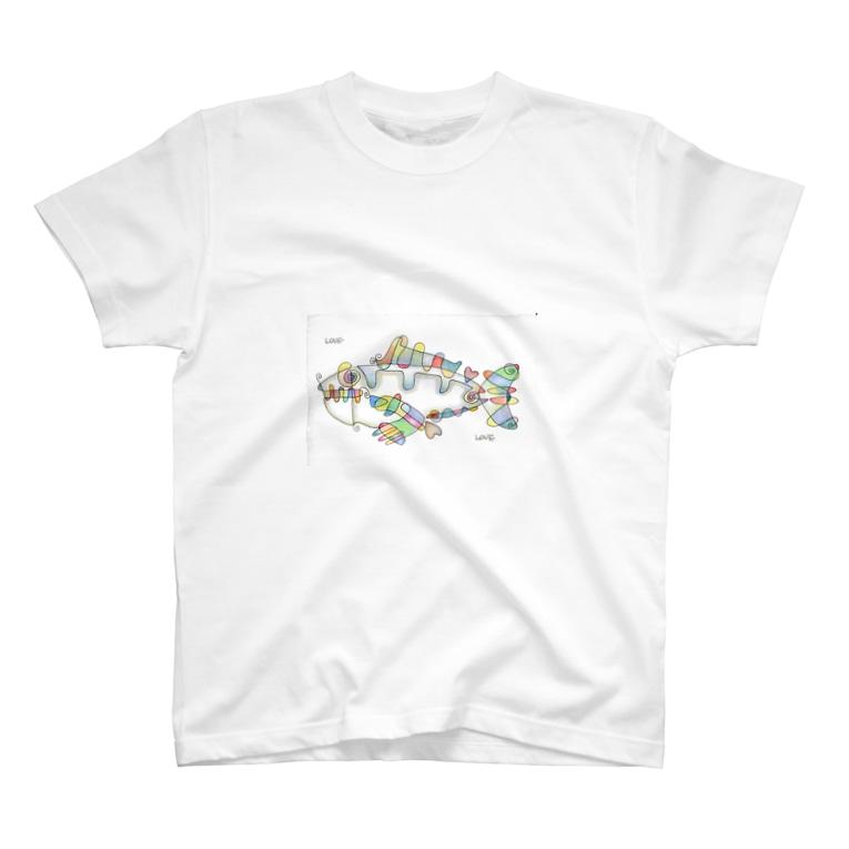 isakazuのLove Fish Love T-shirts