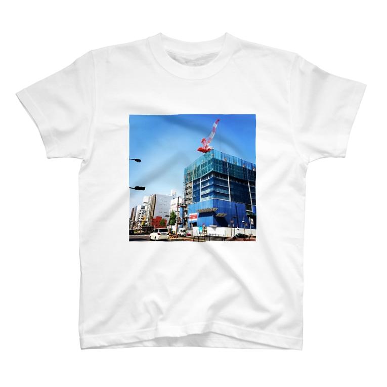 サイのひとの本日のクレーン 20140424a T-shirts