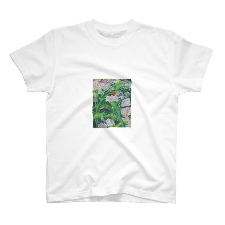 寺谷深登里の野地菊に蝶 T-shirts