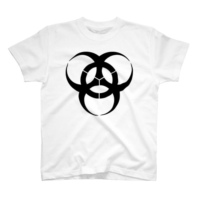 日本の家紋 三つ大の字 T-shirts