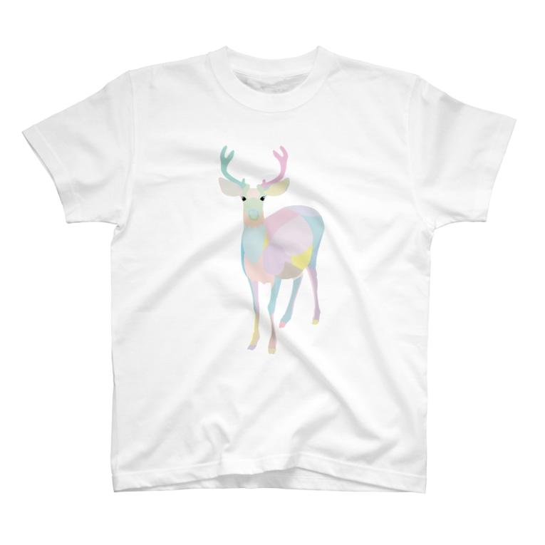 ARTMIXTUREのシカ(パステルカラー) T-shirts