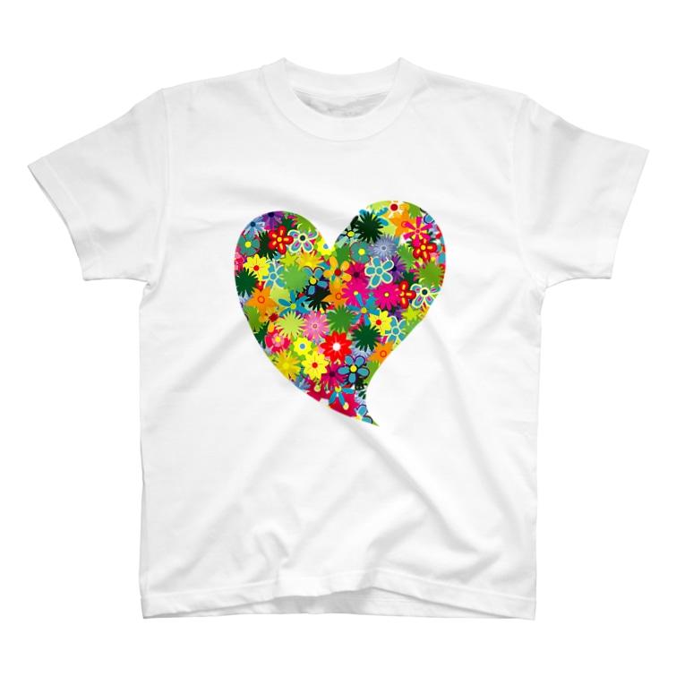 N-BUのHANAHEART T-shirts