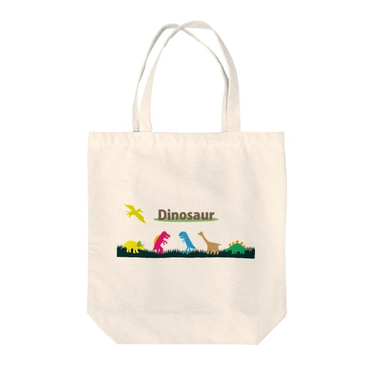 Agentdesignのお気らくDinosaur Tote bags