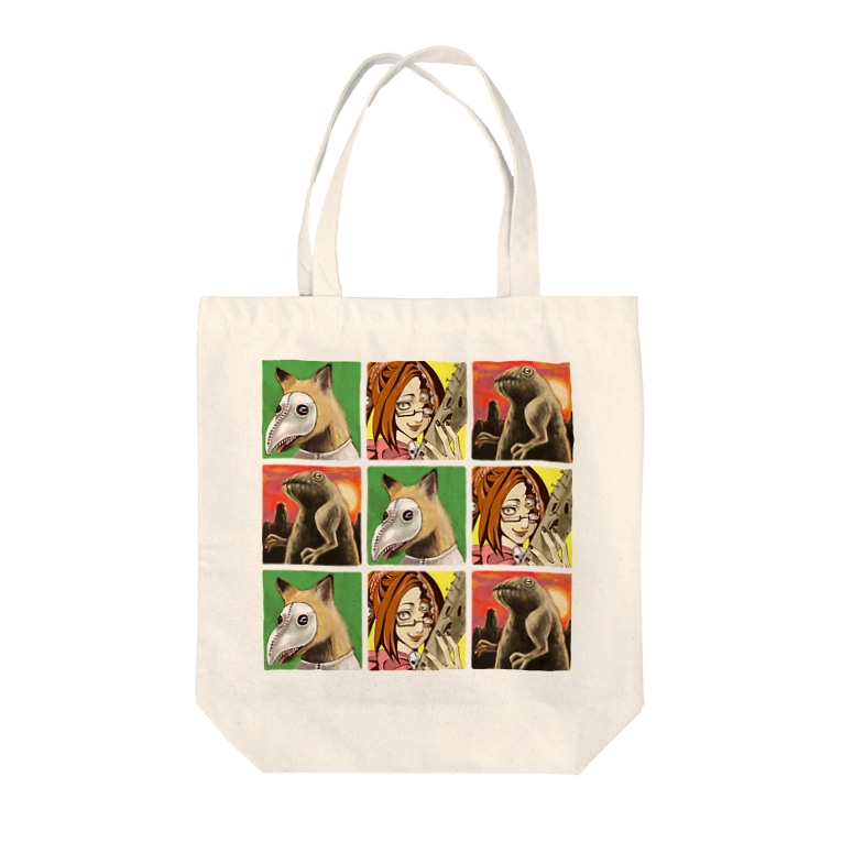 シモニタ研究所売店の魔法淑女とお供たち Tote bags