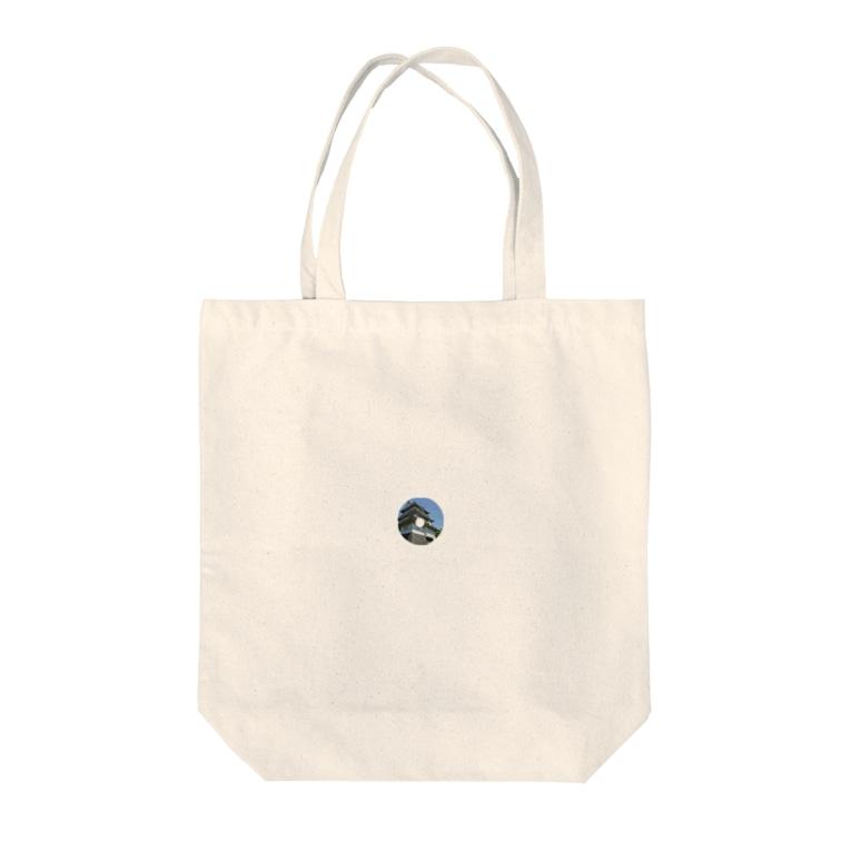 田中民生の小田原城ジャケット風 Tote bags