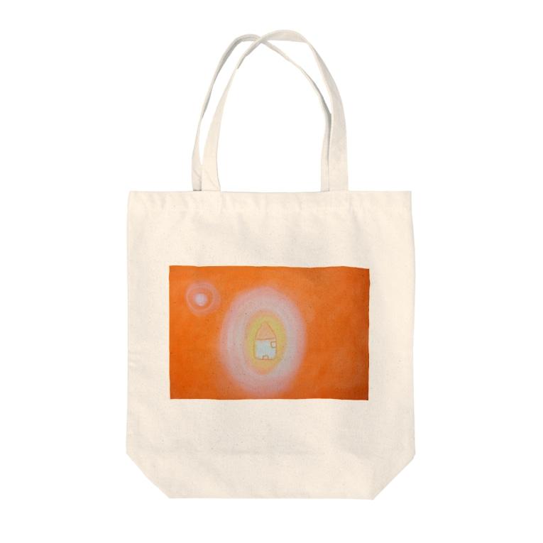kazuo kayamaの愛のある家 Tote bags