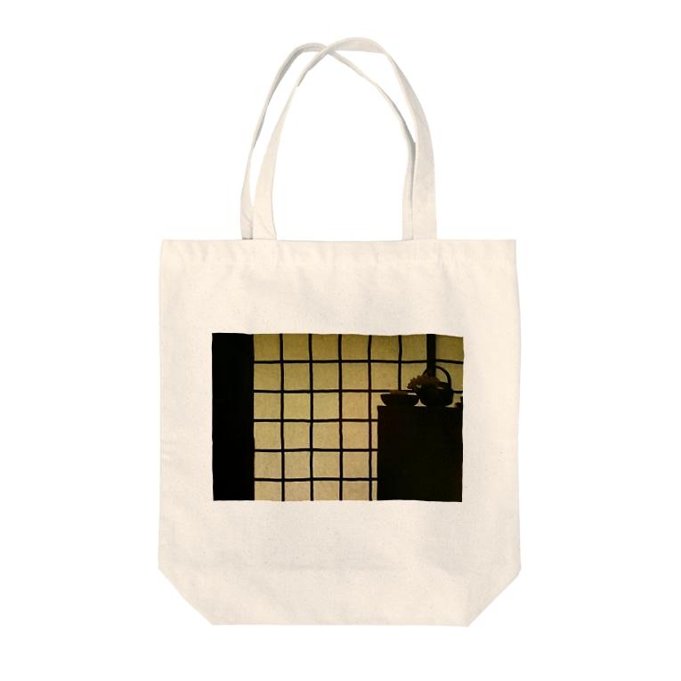 pandleの格子と棚の並列交差構造 Tote bags