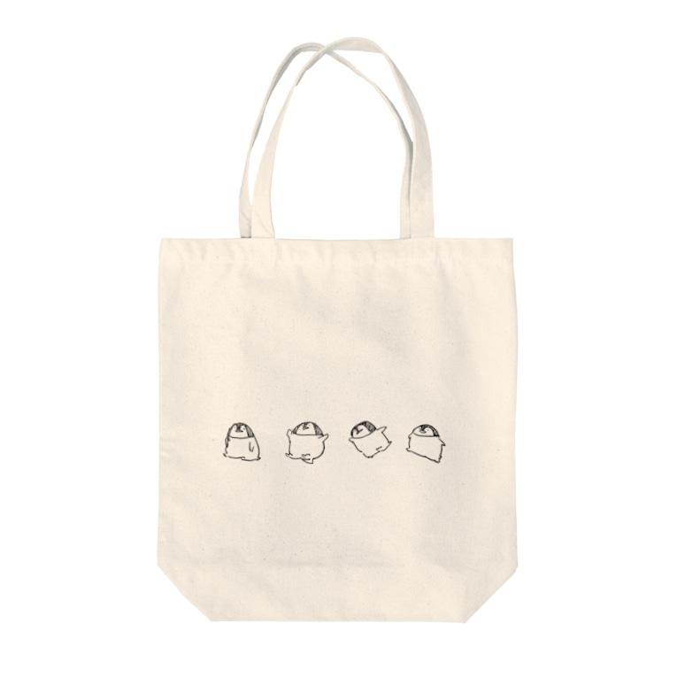 いーりのずらっとペンギン Tote bags
