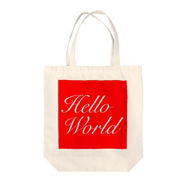 norioのHelloWorld Tote bags