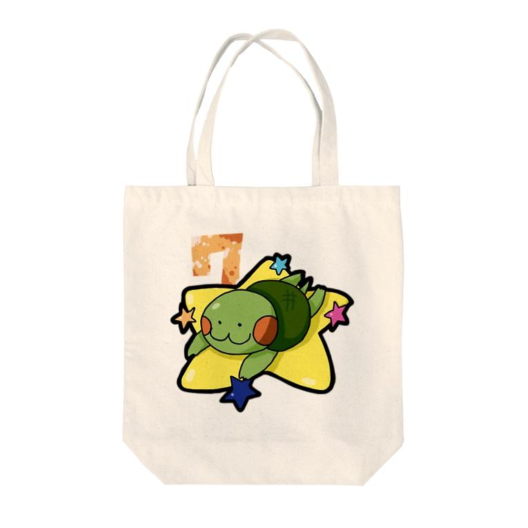 かめ吉のかめ吉・July Tote bags