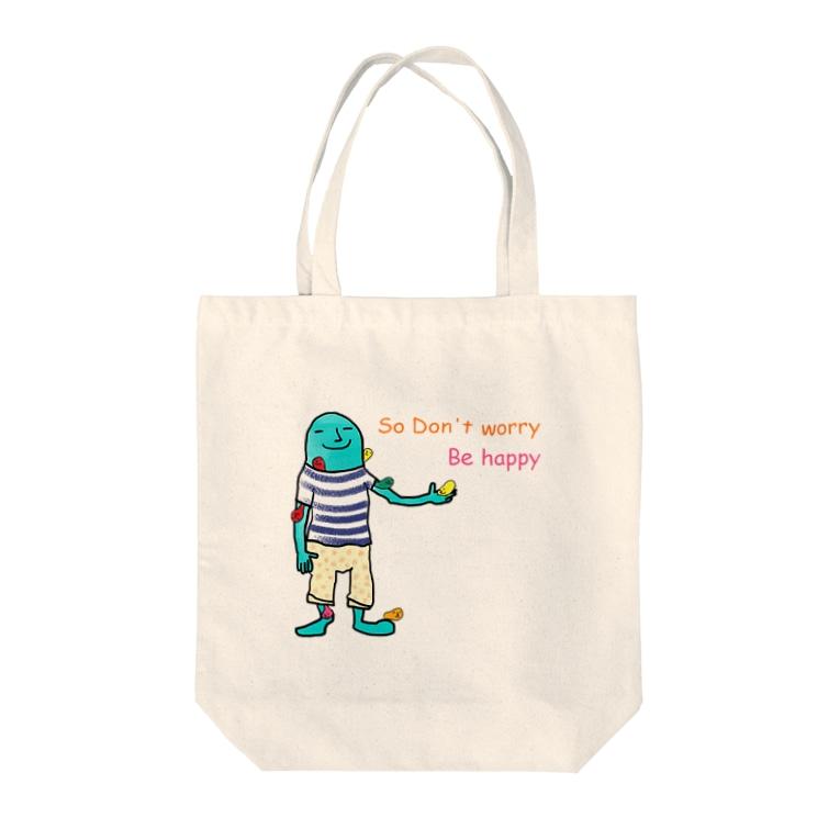 絵と物語のお店『 and trois 』のDon't Tote bags