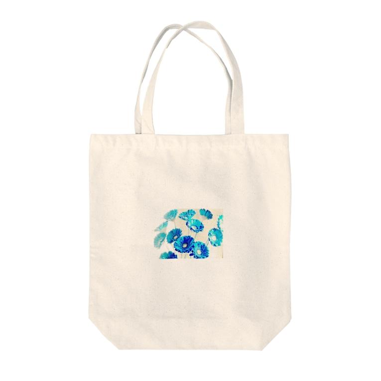 Kumiのflower Tote bags