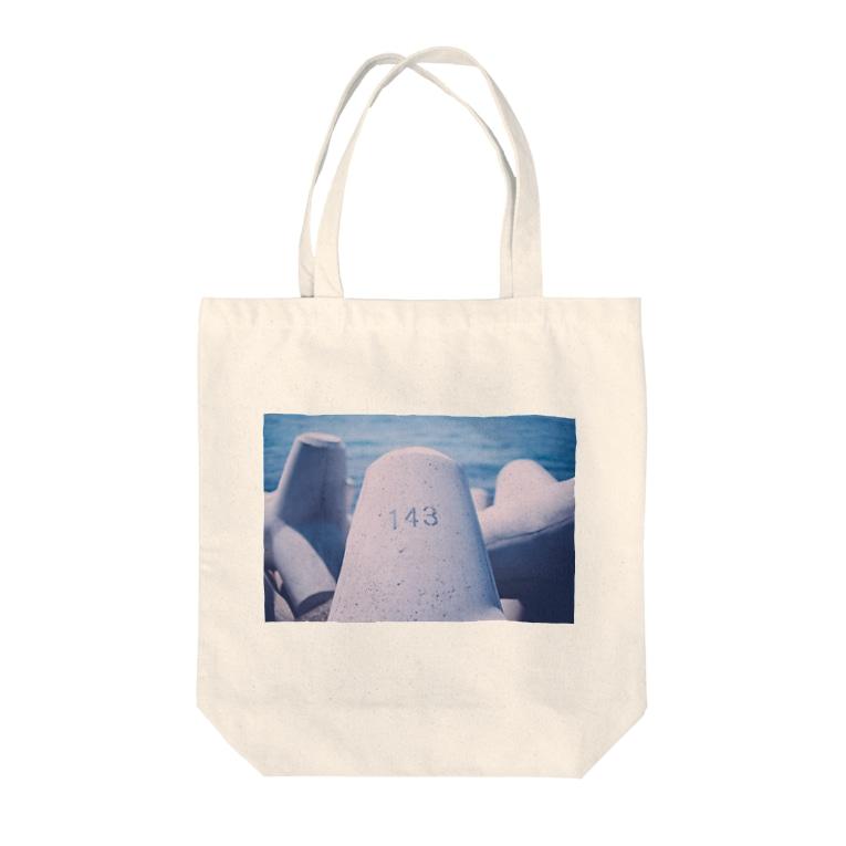 kenjiの目の前にあったテトラポット Tote bags
